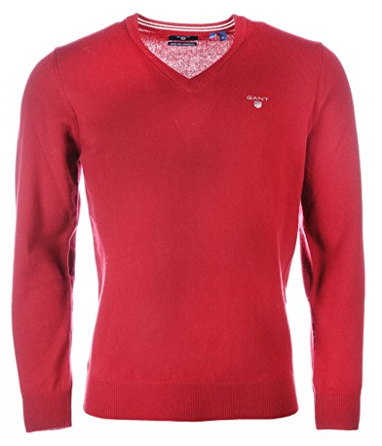 GANT 86212-617 SuperFine Lambswool V-Neck Pullover Uomo Scollo V MAHOGANY RED (Bordeaux) mahogany red (bordeaux)