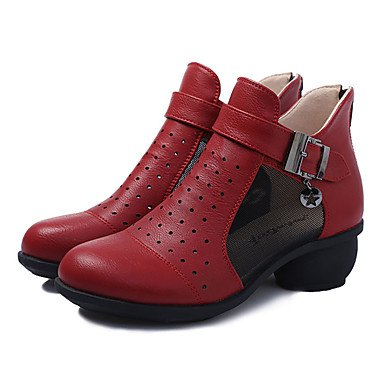 Wuyulunbi@ Donna Scarpe da ballo vero e proprio Boot Sneaker Professional tacco basso Rosso Bianco Nero US9 / EU40 / UK7 / CN41
