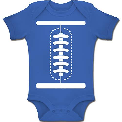 Shirtracer Karneval und Fasching Baby - Football Baby Kostüm - 3-6 Monate - Royalblau - BZ10 - Baby Body Kurzarm Jungen - All Saints Kostüm Und Ideen