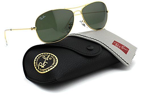 Ray-Ban RB3362 001 Cockpit Gold Frame / Crystal Green G-15 Lens 59mm