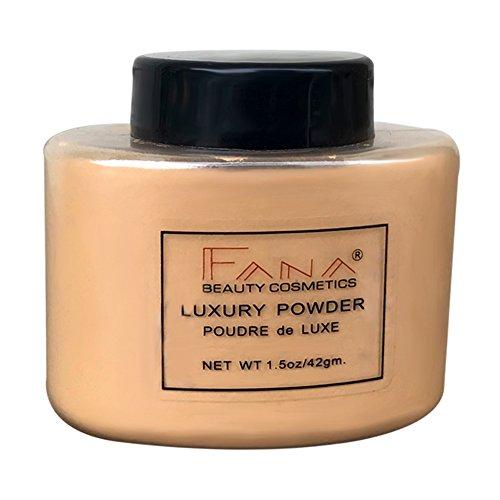Allbesta Poudre libre de contrôle de l'huile de banane translucide poudre de réglage de soie de finition de 4 couleurs de maquillage (14#)