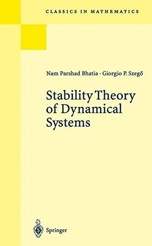 Stability Theory of Dynamical Systems par G. P. Szegö