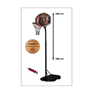 Hudora 71664 Basketballkorb-Set Chicago mit Ball und Pumpe