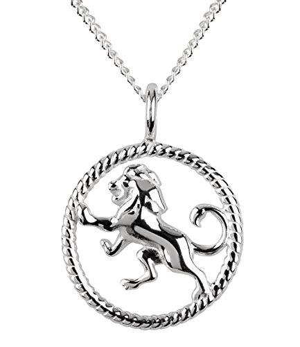 SIX Damen Halskette, Gliederkette, Sterling Silber, 925er Silber, Gliederkette, Horoskop, Sternzeichen, Löwe, silber (386-276)
