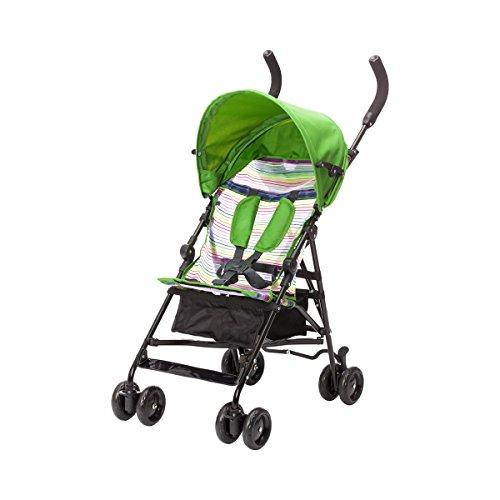Babycab Sitzbuggy Lukas/Kinderwagen für Babys ab 6 Monaten/leicht zu transportieren/grün gestreift