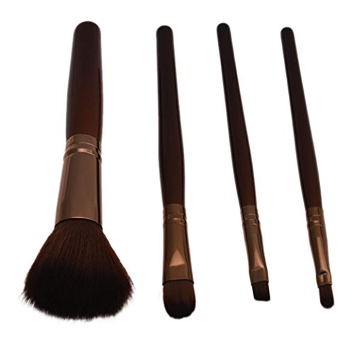 4Pcs Brosses à ondes colorées,Reaso Pro Maquillage Cosmétiques Pinceaux Set Powder Foundation Shadow Eye Shadow Brosse