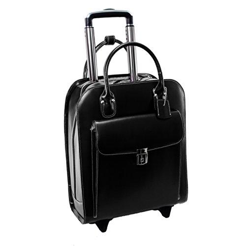 McKleinUSA 97695Leder Vertikaltasche Rädern Damen-Aktentasche für 15,4Laptop–Schwarz (Laptop Vertical Rolling Case)