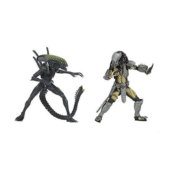 NECA Aliens vs. Predator AvP Celtic Predator & Battle Damaged Grid Alien Rivalry Reborn Action Figure by Alien Vs… 1