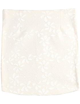XFentech Mujer transpirable falda corta de encaje con cremallera lateral de encaje