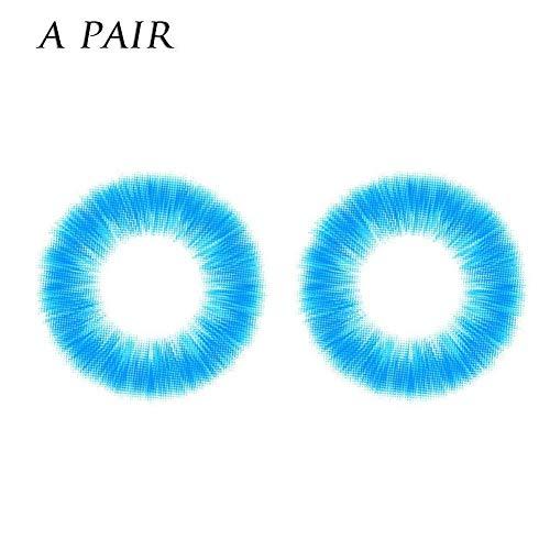 Charme und attraktive Frauen Multi-Color 2pcs Kosmetische farbige Kontaktlinsen Make-up Lidschatten Augen Kosmetik (Kosmetische Halloween Kontaktlinsen)