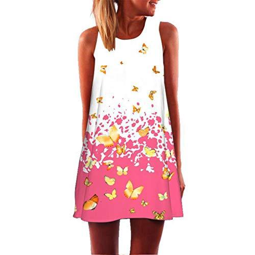 XuxMim Damen Elegant A-Linie Chiffon Abendkleid Brautjungfernkleid Ballkleid lang 32-46(Pink-3,Medium)