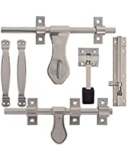 Klaxon I10 Brass Door Accessory Kit (Silver, Stainless Steel Finish)