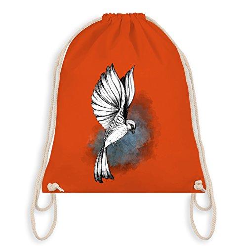 Shirtracer Vögel - Vogel Aquarelle Zeichnung - Unisize - Orange - WM110 - Turnbeutel I Gym - Vögel Zeichnung