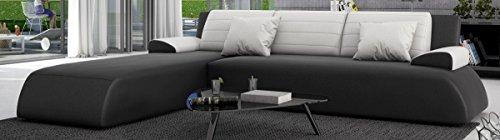 Sofa Dreams Luxus Leder Schlafcouch mit Ottomane
