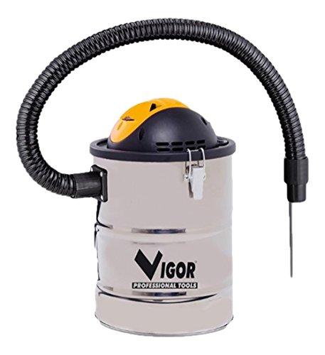 Vigor 99332-05 Bidone Aspiracenere in Inox, 15 l, 800 W