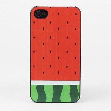 Wassermelonen Rückseitenschutzabdeckung CeeMart für iPhone 4/4S (Telefon Fällen Iphone 4s)