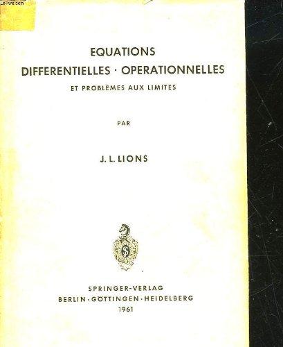 Equations Differentielles Operationnelles Et Problemes Aux Limites