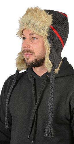 Herren Norweger Strickmütze komplett gefüttert! Mütze mit warmen Microfleecefutter...