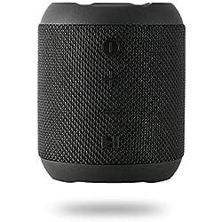 Enceinte Bluetooth Portable, 20W Enceinte Bluetooth Waterproof Audio HD, TWS Haut Parleur Bluetooth 5.0 Pilote Double avec Son 360°, 16 Heures Autonomie Mains Libres Téléphone Support FM, AUX, TF-Noir