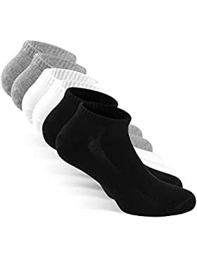 SNOCKS Sneaker-Socken – 6x kurze Socken/kurz Socks in Schwarz, Weiß, Grau aus Baumwolle für Herren & Damen