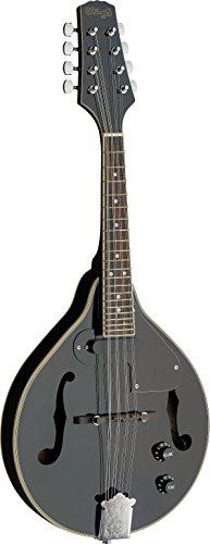 Stagg M50E BLK guitarra electroacústica mandolina de Bluegrass con parte superior de la OTAN, color negro