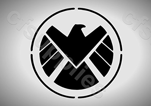 Preisvergleich Produktbild A3 Große Schablone Marvel – Agents of Shield Logo 125 micron wiederverwendbar Mylar
