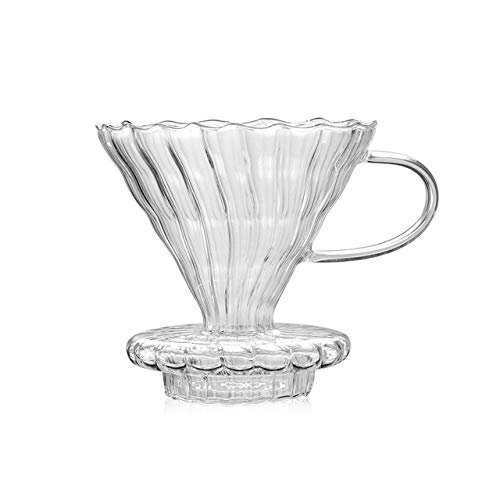 KITCHY V60 Pour Over Glass Range Coffee Server 360ml 600ml 800ml Carafe Drip Coffee Pot Coffee Kettle Brewer Barista Percolator Clear: Filter Type 1