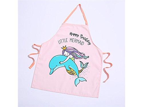 Yyanliii Spaß Schöne Cartoon Krone Meerjungfrau Tier Dolphin Brief Schürze Geburtstagsgeschenk für Familie Freunde (Pink)