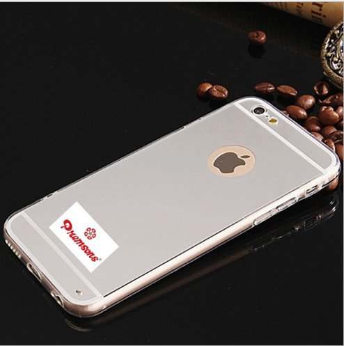 Premsons Iphone 6 / 6S Soft Silver Tpu Metal Bumper With Acrylic Mirror Back Apple Designer Cover Case  available at amazon for Rs.175