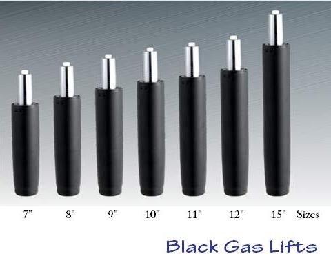 comprare on line BiMi, pistone a gas diritto per sedia da ufficio, 22,9 cm, di colore nero prezzo