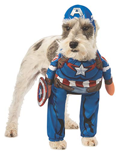 Rubie's Marvel Captain America Pet Fancy Dress Costume Small (Captain America Pet Kostüm)