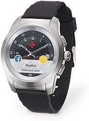 MyKronoz ZeTime Original hybride Smartwatch 44mm mit mechanischen Zeigern über einen runden Farbtouchscreen –