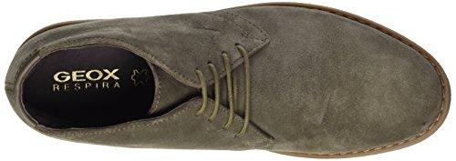 Geox Herren U Brandled E Desert Stiefel, Blau (Navy),49 EU Grau (Taupe)