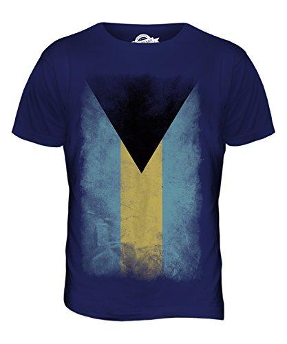 CandyMix Bahamas Verblichen Flagge Herren T Shirt Navy Blau