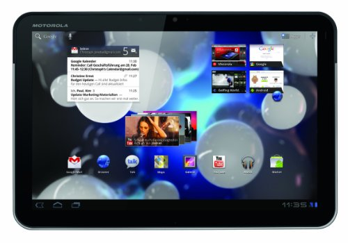 Motorola Xoom Tablet (25,7 cm (10,1 Zoll) HD-Touchscreen, Wifi, 3G, Android 3.0, Dual-Core Prozessor) schwarz/silber (Xoom Tablet Motorola)