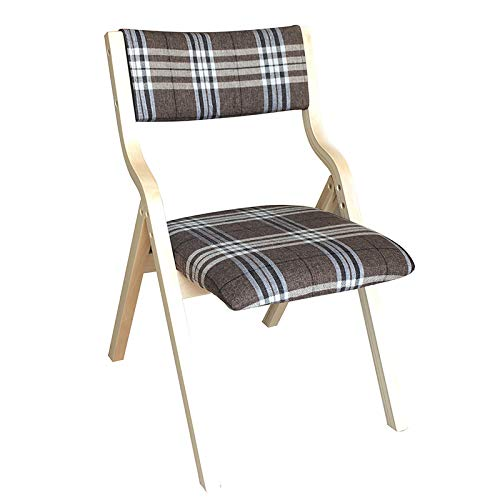 ZCXCC Comfortable Solid Wood Folding Chair Backrest Fabric