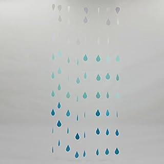 GEZICHTA 1,2 m Regentropfen-Element bunt Hängende Papiergirlande Abschlussfeier Tropfenschnur Kette Hochzeit Geburtstag Party Decke Banner Fensterdekoration, blau, Free Size