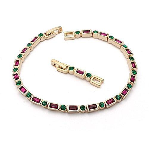 18ct Swarovski Elements Bracciale rivestimento dell'oro - Ideale regalo per le donne e le ragazze - Viene in scatola regalo