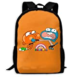 Mochila Escolar, Travel Hiking The Amazing World of Gumball Brother Backpacks Waterproof Big Student College High School Shoulder Bag Outdoor Backpacks For Men Women Adults