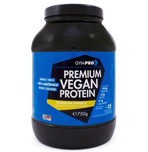 PREMIUM VEGAN PROTEIN (Spirulina-Vanille, 750g). Protein Blend aus Erbsenprotein und Reisprotein - Proteinshake aus natürlichen Zusatzstoffen und 78% Proteingehalt; ohne Soja und Hanf - Laktosefrei (Natürliches Soja-eiweiß)