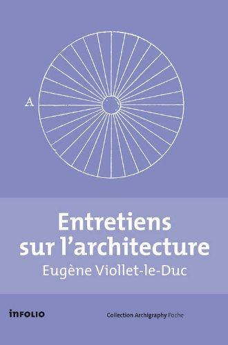 Coffret 2vol Entretiens sur l'architecture
