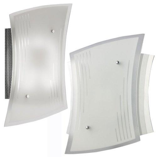 2er-Set Wandleuchte Wandlampe Energiesparend Lampe Bad Badezimmer Chrom Licht WING