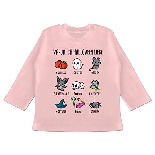 m ich Halloween Liebe - 12-18 Monate - Babyrosa - BZ11 - Baby T-Shirt Langarm ()