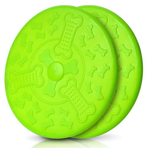Honigpfote Hunde Frisbee in knalliger Farbe bissfest schwimmend aus flexiblem und ungiftigen Naturkautschuk I Interaktives Hundespielzeug Ø 23cm für alle Hundegrößen und Hunderassen -