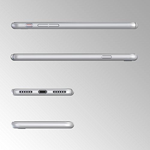 URCOVER® Ultra-Slim Hard Case Housse Protection | Apple iPhone 7 | Plastique in Rouge | Coque Mince Anti-choc Léger Étui Bumper Sac Armor Cover Élegant Argent