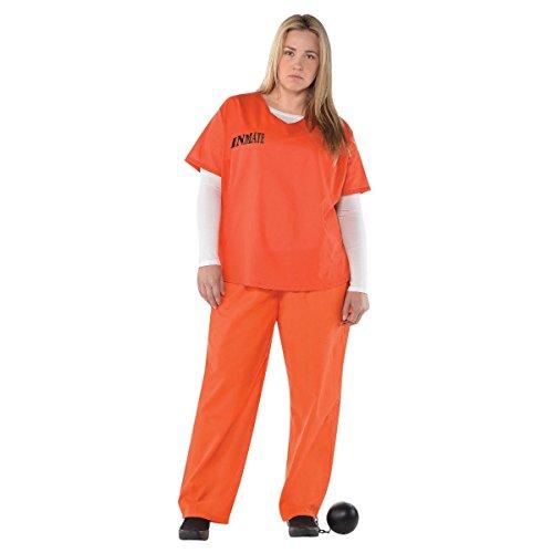 Übergröße Gefangener Damen Kostüm -