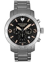 Swiss Eagle Analog Black Dial Men's Watch-SE-9102-11