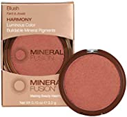 Mineral Fusion Blush, Harmony, Coral Shimmer, 0.10 oz (Packaging May Vary)