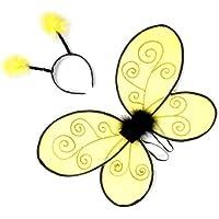 Grandes imitaciones -  alas y antenas para disfraz de abeja para niña (a partir de 2 años)