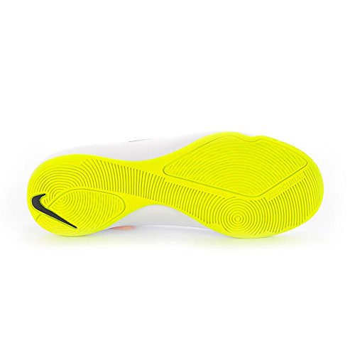 Nike Jr Mercurial IC Jungen Fußballschuhe WHITE/VOLT-HYPER PINK-BLAC